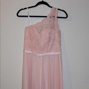 David's Bridal blush dress